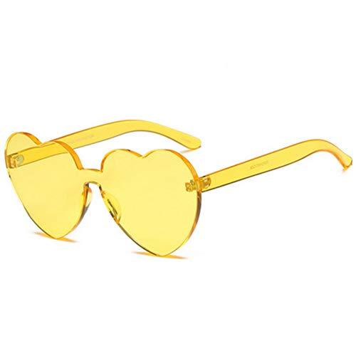 GJYANJING Sonnenbrille Sonnenbrille Damen Süß Candy Sonnenbrille Frauen Pfirsich Herzförmige Sonnenbrille