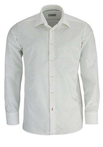 Einhorn Herren Langarm Hemd Jamie Slim Uni Popeline champagner / beige 11305.0854.10 Beige