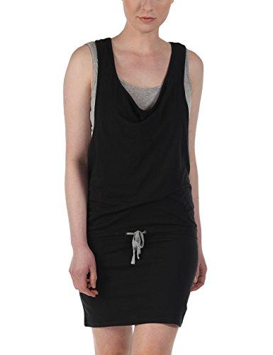 Bench Damen Kleid Trägerkleid Mixxie schwarz (Jet Black) Medium