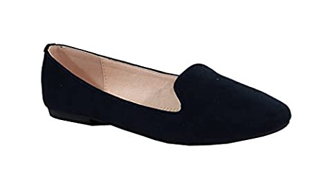 By Shoes - Ballerine Plate Style Suédine - Femme - Taille 37 - Blue