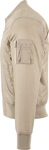 Urban Classics Basic Bomber Jacket, Giacca Uomo Beige (beige 3)