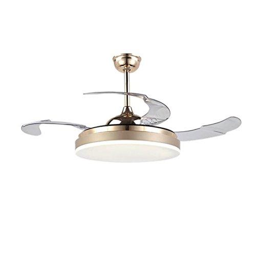 Led luci ventilatore invisibile ristorante soggiorno lampadario da 42 pollici a casa con telecomando moderno ventilatore a led minimalista