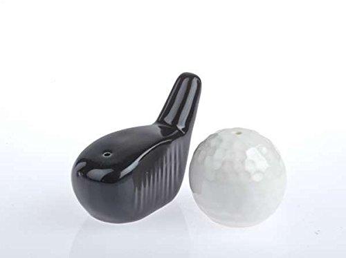 Golf, Golffreund, Golfspieler, Geschenk Taiga & Wutz - Golfschläger und -ball in s/w , die ungewöhnlichsten Salzstreuer