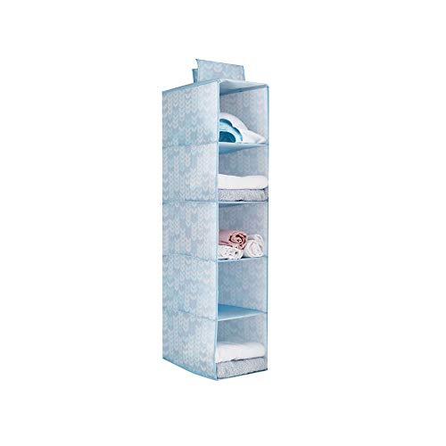 ZHAORLL Hängender Wandschrank-Organisator Tuch hängen Regale Hängende Aufbewahrungsbox für Kleidung Klappbarer Kleiderschrank Pullover & Handtaschen Organizer 5-Regal,C - 3 Regal-pullover-organizer