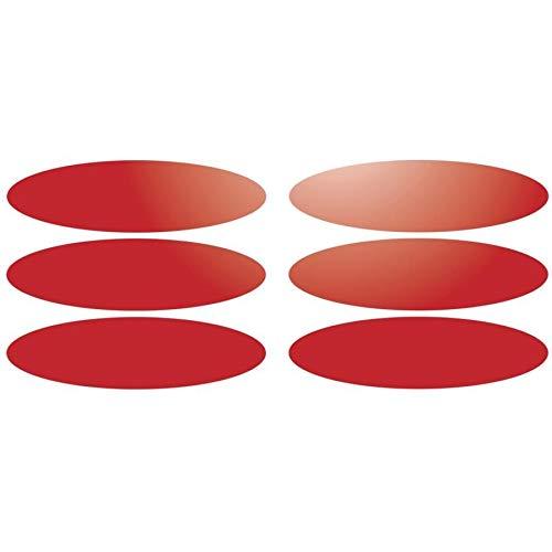 6 Bandes adhésives réfléchissantes pour signalisation sur casque 9x2.5 cm Rouge Réfléchissant