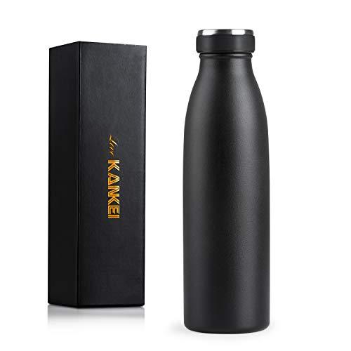 Love-KANKEI T2 Bottiglia Termica - Termos Bottiglia con Doppio Isolamento e Senza BPA - Conserva Il Freddo 24 Ore e Il Caldo 12 Ore - 500ml / 17oz Crema