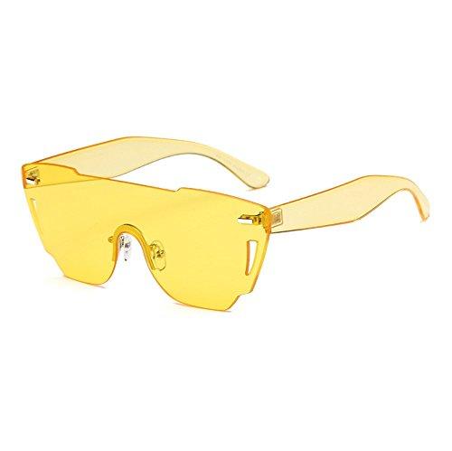 ZYPMM 2017 Europa und die Vereinigten Staaten Mode Damen Sonnenbrille neue Strand Brille ozeanischen Film Stück der einzelnen Sonnenbrillen ( Color : Gelb )