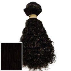 Obsessions Extensions cheveux Extensions de cheveux humains 100% Vierges brésiliens de qualité AAA + bouclés – Couleur # 1 jet (Noir) – 30,5 cm