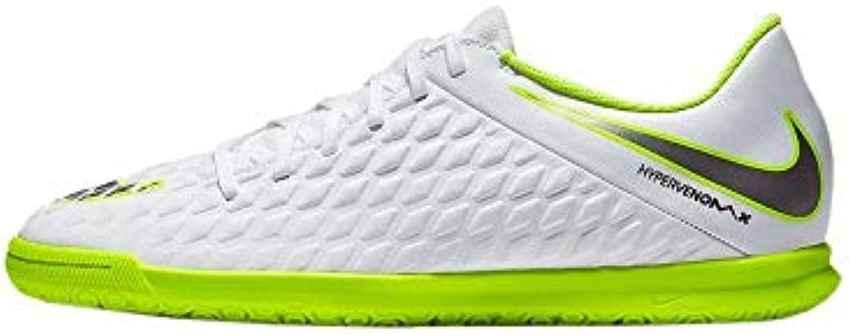 Nike Zapatilla Hypervenom III Club IC Talla 41, Color Blanco, Amarillo Flúor