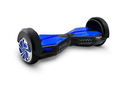 """Itekk Hoverboard 8\'\' Neo con Bluetooth, Assicurazione AXA \""""Tutela Famiglia\"""" inclusa, Blu Elettrico"""