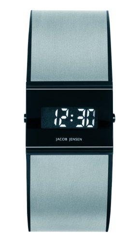 Jacob Jensen - 32532 - Montre Homme - Quartz - Digitale - Bracelet Caoutchouc Argent