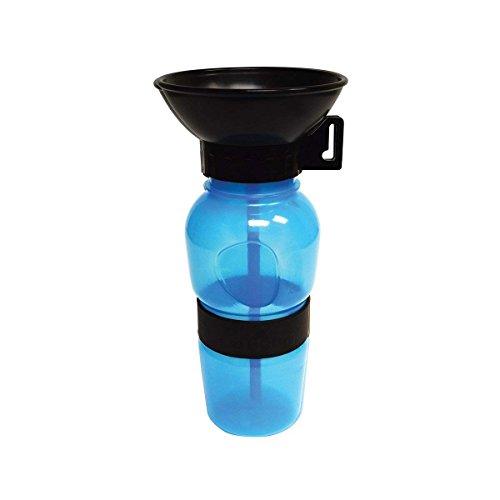 Ovtai Wasserflasche Hund, Hund Unterwegs Reisen Reisebecher 180OZ Trinkflasche für Hunde Haustier Trinkflasche Auto Becher(Blau) -