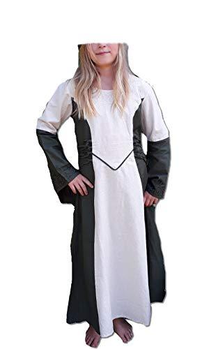 (Bäres Mittelalter Kleider kleine Maid - Kinder Marktkleid - Kinder Catriona für 9-11 jährige/natur / olive)