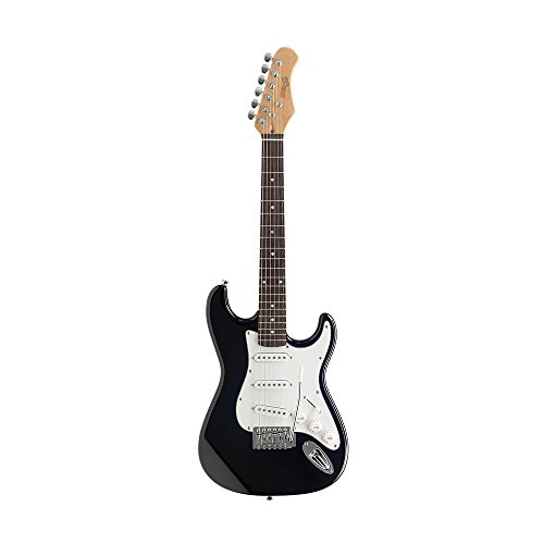 Stagg S300 3/4 BK - Guitarra eléctrica, color negro