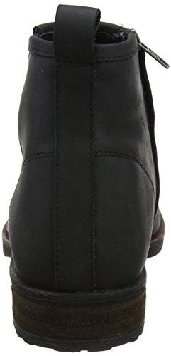 Joe Browns Herren West Coast Waxed Leather Boots Biker Schwarz (Schwarz)