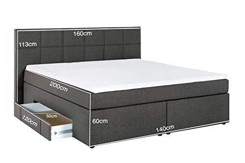 Boxspringbett Andybur mit Bettkasten Luxus Hotelbett Bild 3*