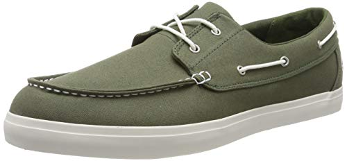 Timberland Herren Newport Bay 2-Eye Canvas Mokassin, Grün (Grape Leaf A58), 41 EU