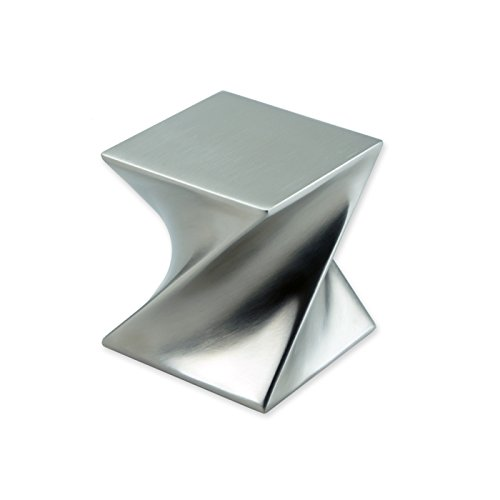 ArtsOnDesk Moderne Kunst Briefbeschwerer St206 Edelstahl Satiniert Papiergewicht Paperweight Schreibtisch-Accessoire Schreibtisch Organisator Geschenk -