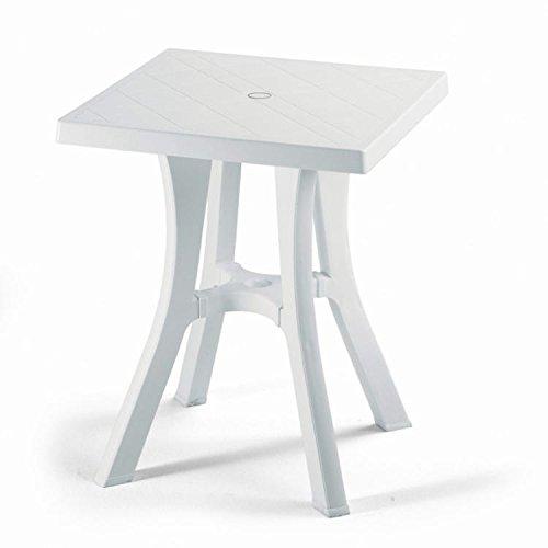 Ideapiu Table carré pour extérieur, Table résine 60 x 60, Table pour Jardin démontable