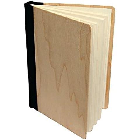 Absolu wood - Cuaderno A5 en madera de arce - Encuadernación Negra, Formato A6