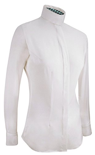 irideon Damen Arena Show gemustert Manschette Shirt-Pferde, weiß - Irideon Riding Hose