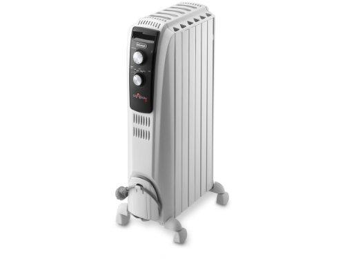 De'longhi Dragon TRD40 0615 - Radiador de aceite, 1500 w, función anti heladas, 3 ajustes potencia, asa y ruedas, almacenamiento cable, blanco