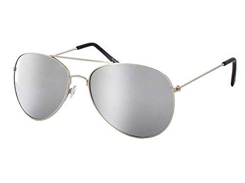 Pilotenbrille verspiegelt Sonnenbrille Herren Damen Brille silber 705 von Alsino