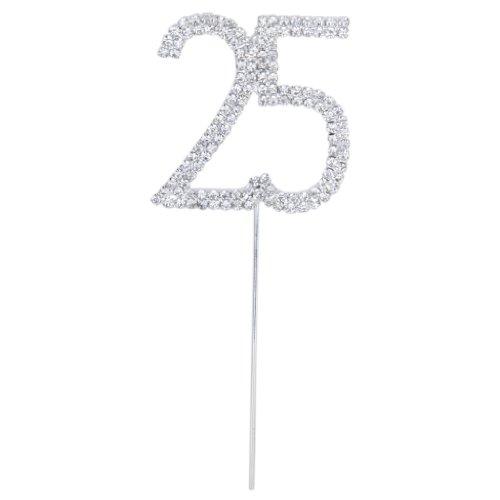 Kristall Strass 25 jähriges Jubiläum Geburtstags Partei Kuchen Deckel
