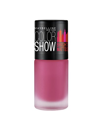 Maybelline New York Fiery fuschia Colour Show Bright Matte Nail Paint, Pink, 6ml