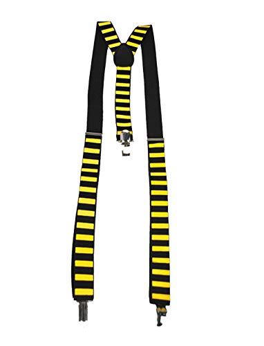 Halloweenia - Kostüm Accessoires Zubehör Ringel Hosenträger im Hummel Bienen Look, Suspenders Bee, perfekt für Karneval, Fasching und Fastnacht, (Bunte Kostüm Schmuck)