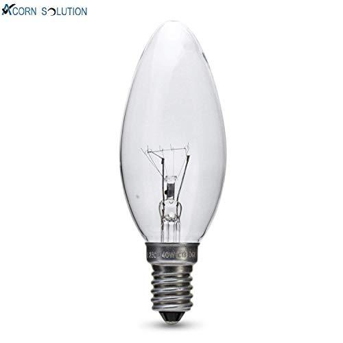 Set de 10 bombillas Acorn con rosca Edison peque/ña E14 40 W estilo vela