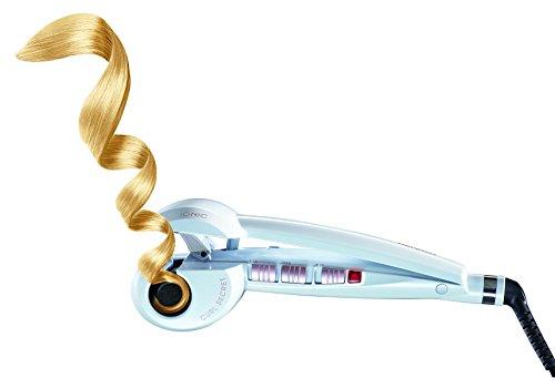 BaByliss Curl Secret C1201E - Rizador automático, función iónica, 2 temperaturas, color blanco perlado