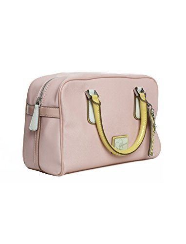 Guess Sac à Main Leandra Box Satchel Pink Multi