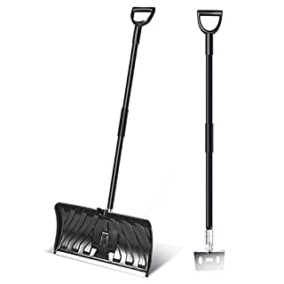 Snow Shovel And Ice Shovel,snow Removal Tool Two-in-one Snow Shovel And Ice Shovel For Folding Snow Multi-purpose Snow Shovel