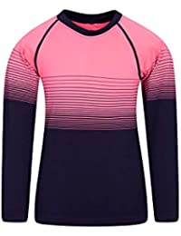Mountain Warehouse Camiseta de Cuello Redondo sin Costuras - Camiseta Ligera, Manga Larga, rápida