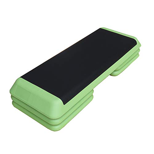 Unibest Stepper Aerobic Steppbrett Step Brett Board 3-Fach verstellbar 110x42cm - grün