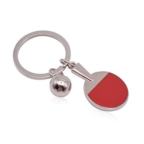 OgquatonTischtennis Schlüsselbund mit Ball Anhänger Schlüsselanhänger Handtasche Tasche Schlüsselhalter Zubehör Dekor Langlebig und praktisch