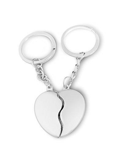 Plaque de porte personnalisée Coeur Porte-clés avec pochette cadeau-I8