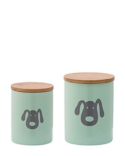 Bloomingville Aufbewahrungsdose mit Deckel | Hund | Mint | 2er Set (Mint Hund)