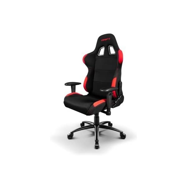 Drift DR100 – DR100BR – Silla Gaming, Color Negro/Rojo