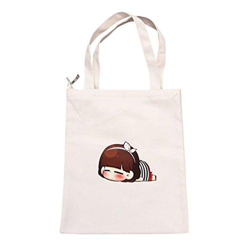 Shopping Bag Riutilizzabile Donna Baymate Ladies Cute Motif Bianco