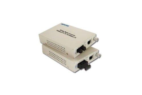 Dexlan Konverter Faser Singlemodefasern SC für Ethernet RJ45100FX 30KMS