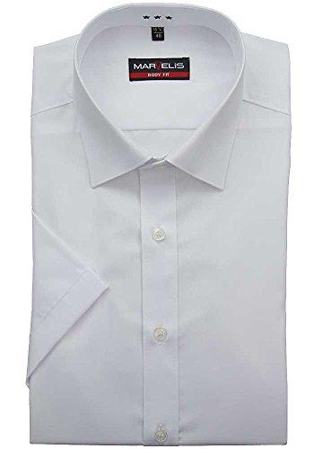 MARVELIS body fit lavazio chemise en popeline de coton unie blanc 6799/12/00<br />       Blanc - blanc