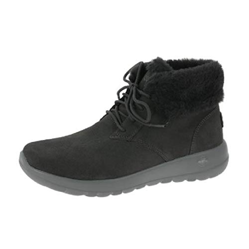 Skechers 15506 Char On The Go Joy Lush Damen Boots Veloursleder warm gefüttert, Groesse 39, anthrazit