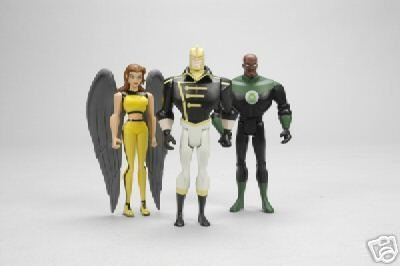 Justice League Unlimited SDCC & Wizard World Chicago Exclusive Action Figures 3-Pack (Green Lantern, Hawkgirl, The Ray) by Mattel (English Manual)