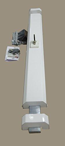 Ckey Serratura blindata orizzontale a cilindro per porta, mod. 850, bianco