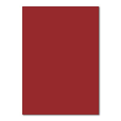 Karton - 240 g/m² Bastel-Papier - Farbe: Dunkelrot - Ton-Zeichen-Papier - Foto-Karton - Zubehör zum Basteln - DIY-Bedarf ()