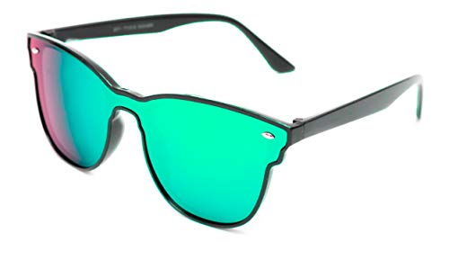 THEWHOOP UniBody Lens Design Mirror UV Protected Wayfarer Unisex Sunglasses (10001901| Green|54)