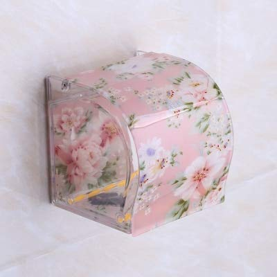 Toilettenpapier Holder Plastic Acryl Acryl wasserdicht Toilette Holder Box Free Stiletto Creative Door Paper Handtuchbox