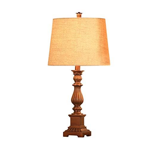 Lámpara de Mesa Lámpara de sobremesa Americana Dormitorio Lámpara ...